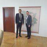 Начелник Вукадиновић са министром саобраћаја и веза РС Недељком Ћорићем